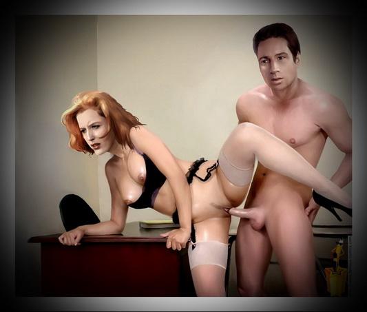 Famous X-files in porn - Celebs Porn Famous Comics
