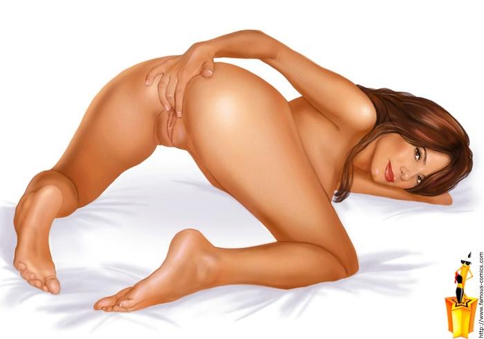 celebs nude cartoon